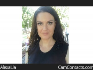Webcam model AlexaLia from CamContacts