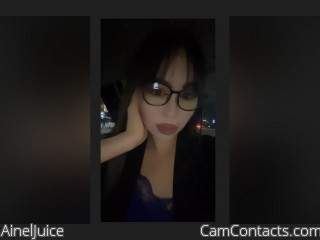 Webcam model AinelJuice from CamContacts