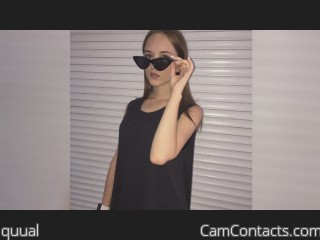 Webcam model quual from CamContacts