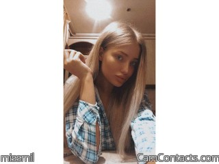 Webcam model missmil from CamContacts