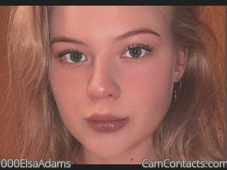 Webcam model 000ElsaAdams from CamContacts