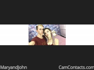 Webcam model MaryandJohn from CamContacts