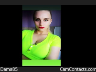 Webcam model Dama85 from CamContacts