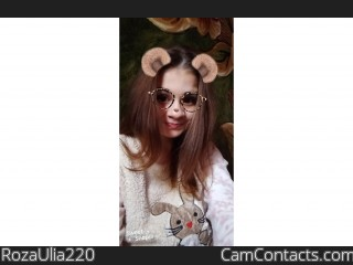 Webcam model RozaUlia220 from CamContacts
