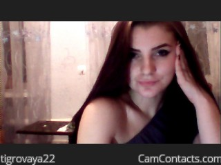 Webcam model tigrovaya22 from CamContacts