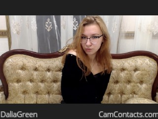 Webcam model DaliaGreen from CamContacts