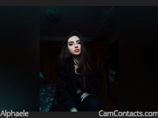 Webcam model Alphaele from CamContacts