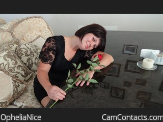 Webcam model OpheliaNice from CamContacts