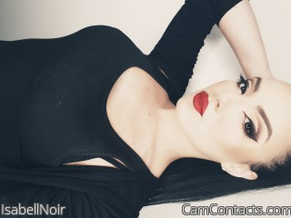 Webcam model IsabellNoir from CamContacts