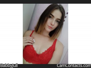 Webcam model BabbyJull from CamContacts