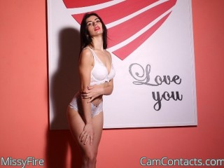 Webcam model MissyFire from CamContacts