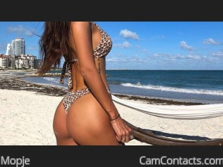 Webcam model Mopje from CamContacts