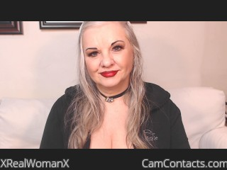 Webcam model XRealWomanX from CamContacts