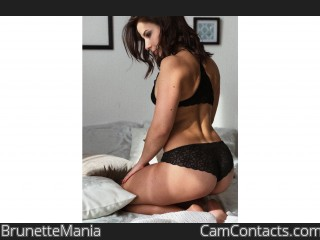 Webcam model BrunetteMania from CamContacts