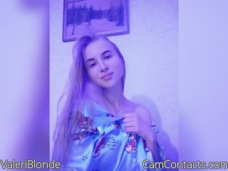Webcam model ValeriBlonde from CamContacts