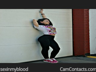 Webcam model sexinmyblood from CamContacts