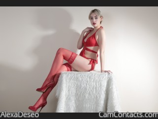 Webcam model AlexaDeseo from CamContacts