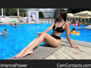 Webcam model AriannaPower from CamContacts
