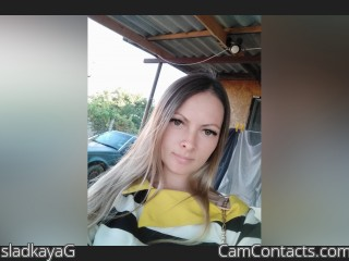 Webcam model sladkayaG from CamContacts