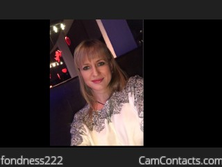 Webcam model fondness222 from CamContacts