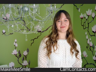 Webcam model MakeMeeSmile from CamContacts
