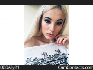 Webcam model 000Ally21 from CamContacts