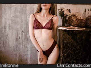 Webcam model ImBonnie from CamContacts