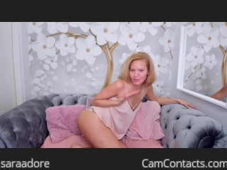 Webcam model saraadore from CamContacts