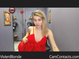 Webcam model VivienBlonde from CamContacts