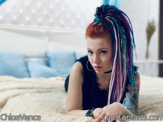 Webcam model ChloeVance from CamContacts