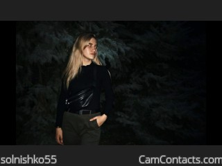 Webcam model solnishko55 from CamContacts