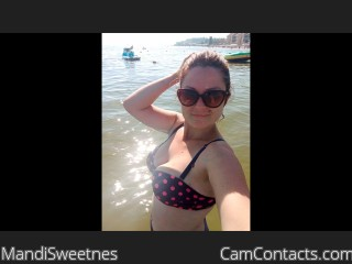 Webcam model MandiSweetnes from CamContacts