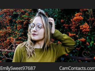 Webcam model EmilySweet97687 from CamContacts