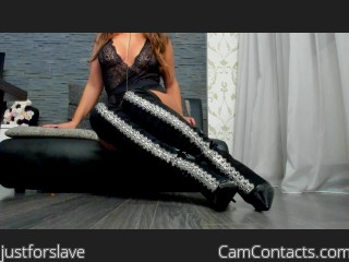 Webcam model justforslave from CamContacts