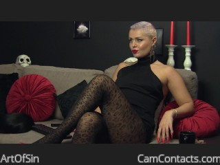 Webcam model ArtOfSin from CamContacts