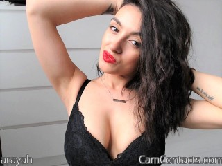 Webcam model arayah from CamContacts