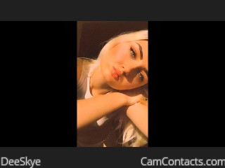 Webcam model DeeSkye from CamContacts