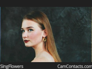 Webcam model SingFlowers from CamContacts