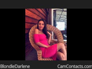 Webcam model BlondieDarlene from CamContacts