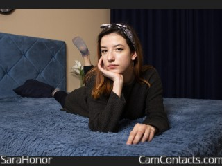 Webcam model SaraHonor from CamContacts