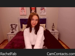 Webcam model RachelFab from CamContacts