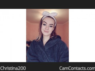 Webcam model Christina200 from CamContacts