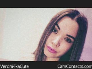 Webcam model Veroni4kaCute from CamContacts