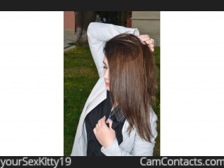 Webcam model yourSexKitty19 from CamContacts