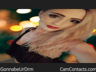 Webcam model GonnabeUrDrm from CamContacts