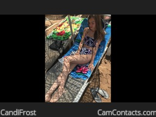 Webcam model CandiFrost from CamContacts