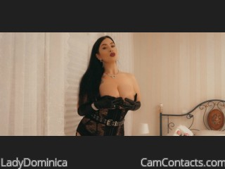 Webcam model LadyDominica from CamContacts