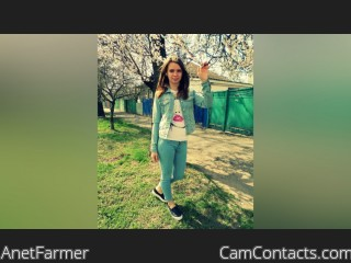 Webcam model AnetFarmer from CamContacts