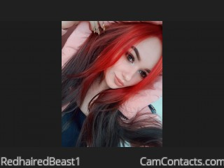 Webcam model RedhairedBeast1 from CamContacts