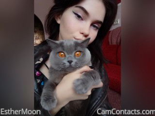 Webcam model EstherMoon from CamContacts